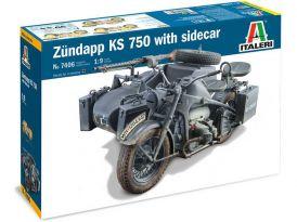 Italeri Zündapp KS 750 oldalkocsival (1: 9)
