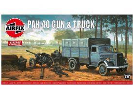 Airfix PAK 40 pisztoly és teherautó (1:76)