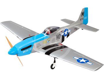 P-51D Mustang ARF kék 20cc 1,7 m