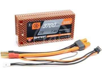 Spektrum Smart LiPo 7.4V 3700mAh 100C Short HC