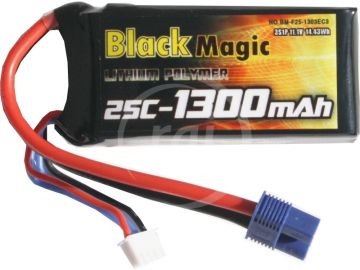 Fekete Magic LiPol 11.1V 1300mAh 25C EC3